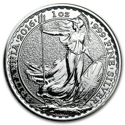 5 x 1oz silver Britannia 2016 - UK seller - no import charges