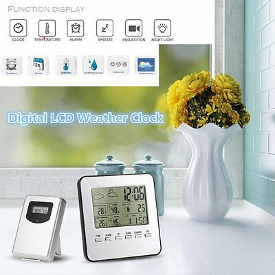 LCD Digital Indoor/Outdoor Wireless Weather Station Clock Thermometer Hygromet A