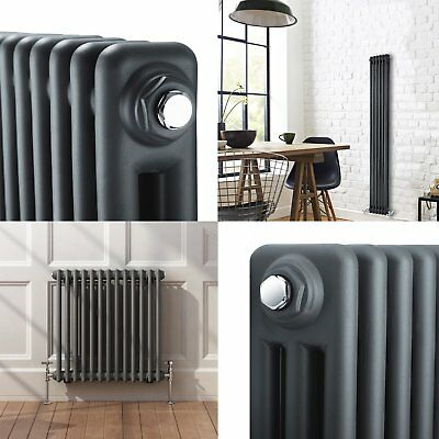 Traditional Anthracite Column Radiators Central Heating Horizontal Cast Iron New