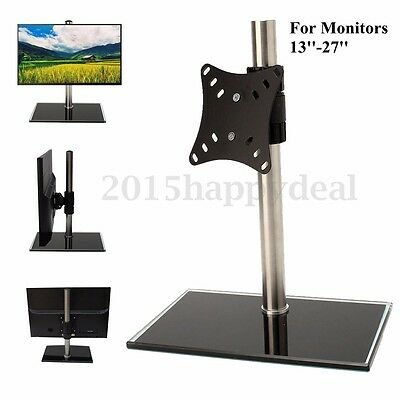 VonHaus Single LCD LED Monitor TV Bracket Mount Desk Stand For 13-27'' Screens