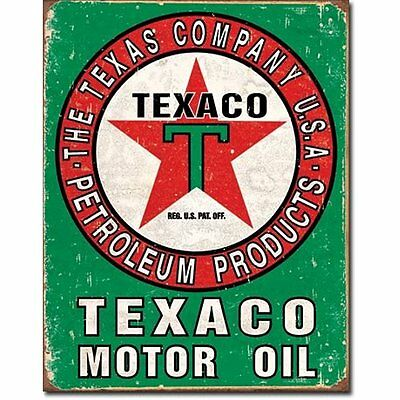 Texaco Oil Decorative Signs Weathered Tin Sign 13 x 16in sign gas oil