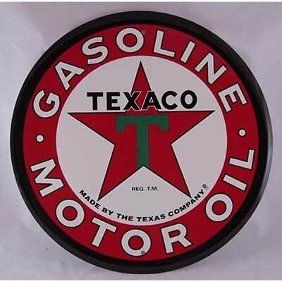 "Large Texaco Decorative Signs Gasoline 24 "" Tin Sign sign gas oil"