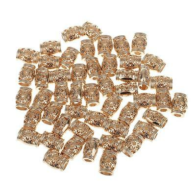 50pcs 15.5mm Antique Metal Gold Plated Bell Stoppers Cord Lock without Lids