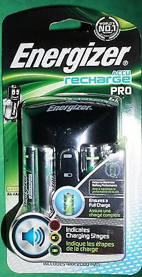 Energizer Pro Battery Charger with 4 x AA Batteries 2000mAh