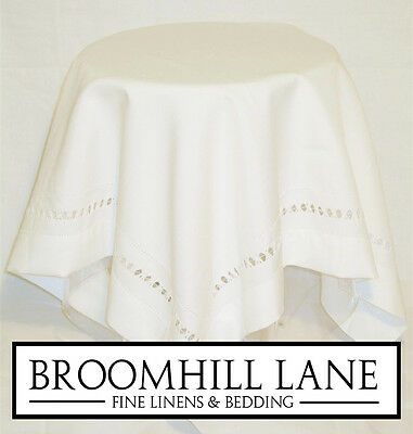 New! White Embroidered 100% Cotton Luxury Heavy Table Linen Runners Tablecloths