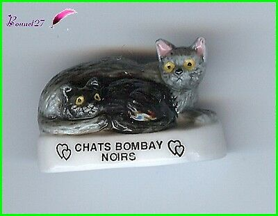 "Feve Les Races de Chat Cat Edition Atlas "" Le Bombay Noir ""  #A13"