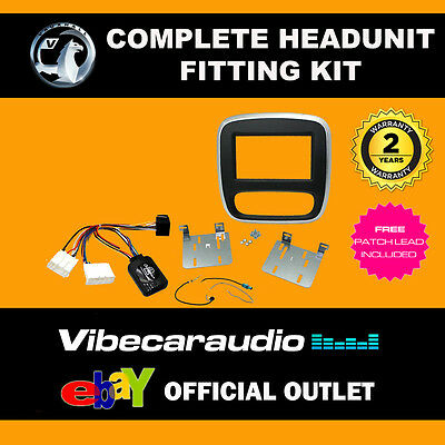 Connects2 CTKVX38 Vauxhall Vivaro 2015> Double Din Fitting Kit Silver/Black