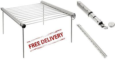 Portable Camping Grill Stainless Steel Cooking Outdoor Backpacking 10 x 9 Inch