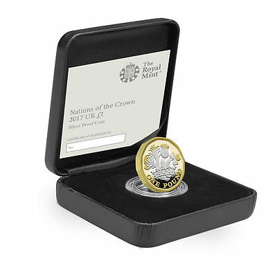 The Royal Mint Nations of the Crown 2017 UK £1 Coin Silver Proof - UK17D1SP