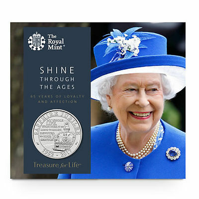 The Royal Mint Queen's Sapphire Jubilee 2017 UK £5 BU Coin- UK17QJBU