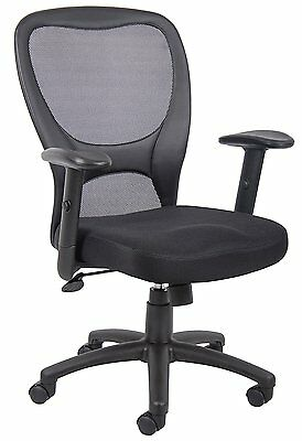 Office Computer Chair B6508 Budget Mesh Task Chair in Black By Boss