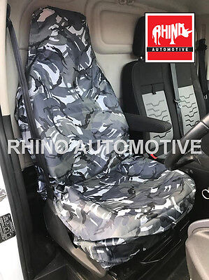 Ford Mustang 14-On Heavy Duty Single Driver Grey Camo Seat Cover
