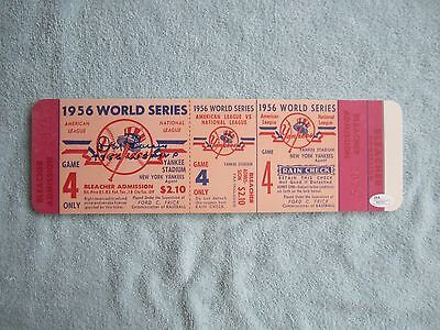 Don Larsen NY Yankees Signed/Autographed 1956 WS MVP Mini-Mega Ticket JSA R88760