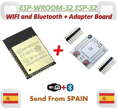 ESP-WROOM-32 ESP32 ESP-32S ESP-32 Bluetooth and WIFI + Adapter Board Plate