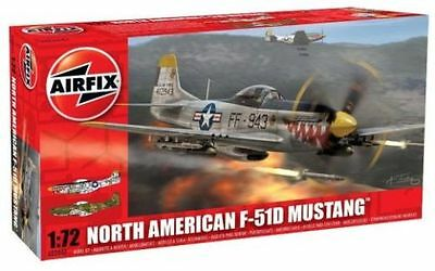 A02047 Airfix North American F-51D Mustang Plastic Model Kit 1:72 Scale New UK