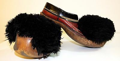 19C. Antique Old Greek  AUTHENTIC TRADITIONAL LEATHER RED MEN'S TSAROUCHIA shoes