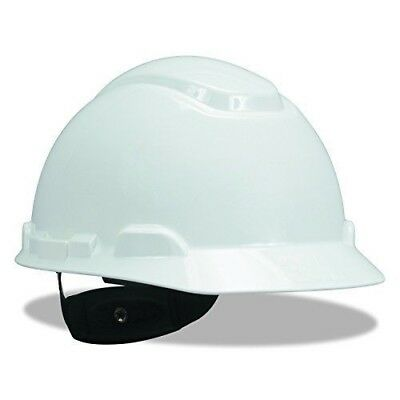 3M Hard Hat, Polyethylene, White, 4-Point Pinlock Suspension, C, G And E Class
