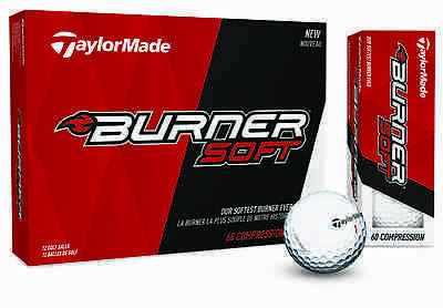 New For 2017 - TaylorMade Golf 2017 Burner Soft Golf Balls 1 Dozen (White)