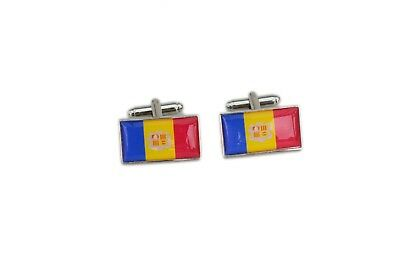 Andora Flag Cufflinks with free organza pouch