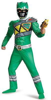 Power Rangers Dino Charge: Boys Green Ranger Muscle Costume
