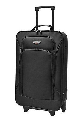 """Traveler's Club 19"""" Rolling Carry On Black + FREE Shipping"""