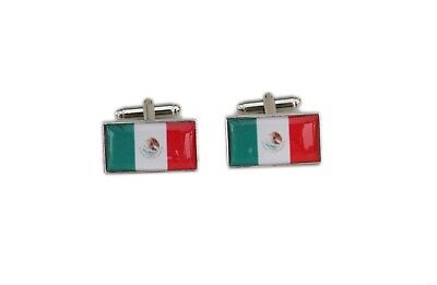 Mexico Flag Cufflinks with free organza pouch