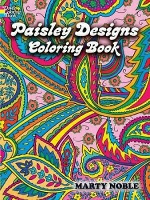 Paisley Designs Coloring Book by Marty Noble Paperback Book (English)