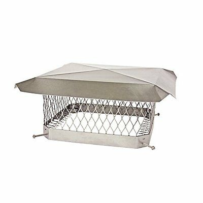 """Shelter SCSS913 Stainless Steel Chimney Cap, Fits Outside Tile, 9"""" x 13"""""""