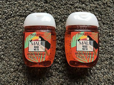 Bath & Body Works 2x Anti-Bacterial Hand Gel USA Exclusive Maui Mango Mai Tai