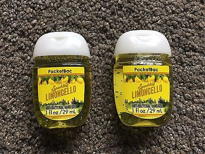 Bath & Body Works 2x Anti-Bacterial Hand Gel USA Exclusive Sparkling Limoncello