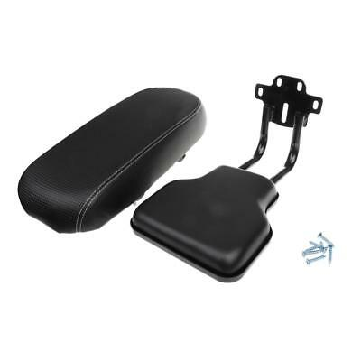 Kids Bicycle Bike Back Seat PU Leather Rear Cushion with Back Support Black