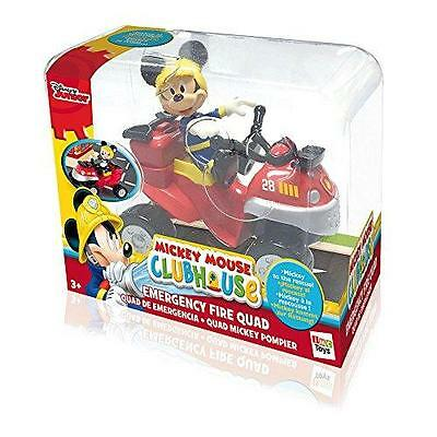 New Disney Mickey Mouse Clubhouse Emergency Fire Quad & Figure Playset