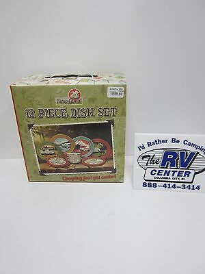 Dish ware, Camping themed, 12 piece set