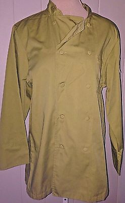 Chef Works Basic Coat Olive Green SMALL Never Worn EXCELLENT
