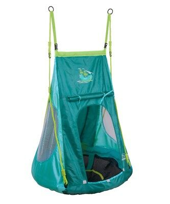 Hudora Nest swing with Tent Pirate ø 90cm Children Plate swing with tent