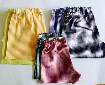 Gingham Modesty/Under shorts to match school uniform - All colours & sizes