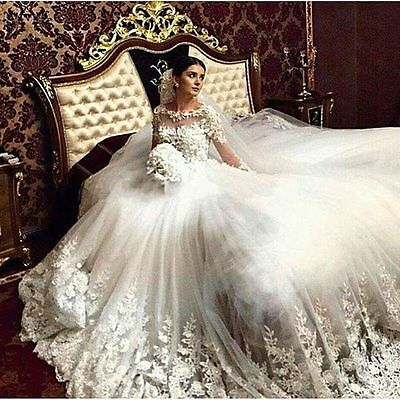 New White/ivory Wedding dress Bridal Gown custom size 6-8-10-12-14-16 18++++