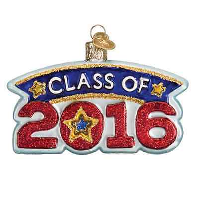 """""""Class of 2016"""" (36186) Old World Christmas Glass Ornament (Close-out!)"""