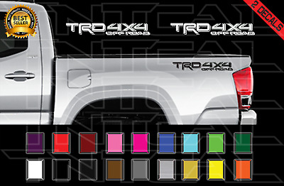 TRD 4x4 Off Road Decals Toyota Tacoma Truck Bed Vinyl Stickers X2 16-17