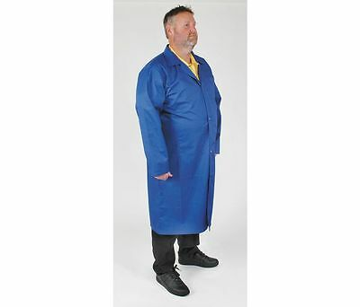 Condor Static Control Collared Lab Coat, 2XL, Blue, 4TWE5, 5482LI3P