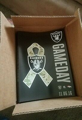 Oakland Raiders game day program