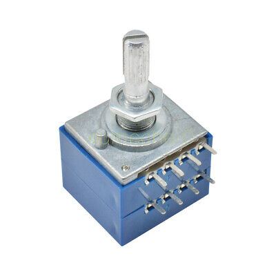 M8x0,75 Gewinde Potentiometer log. 10mm Schaft ALPHA 250K Poti