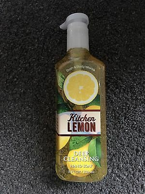 Bath & Body Works Deep Cleansing Hand Soap USA Exclusive Kitchen Lemon