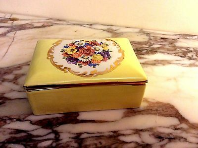 Vintage mid 20th century Italian Paul's Porcelain Jewelry Box