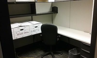 """Haworth Premise 7'x7'-64""""h Office Cubicles / Workstation Office Furniture"""
