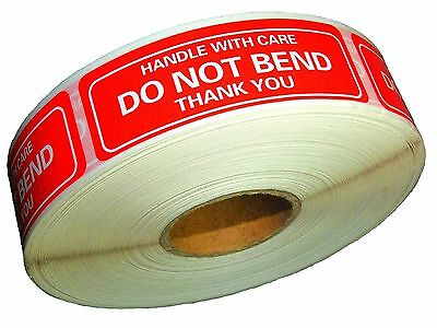 "DO NOT BEND STICKERS HANDLE WITH CARE THANK YOU  1"" x 3"" Sticker Premium Quality"