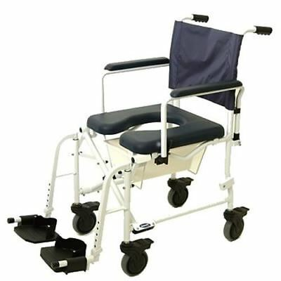 "Invacare 6891 MarinerTM Rehab Shower Commode Wheelchair, Seat Size: 18.25"" W x 1"