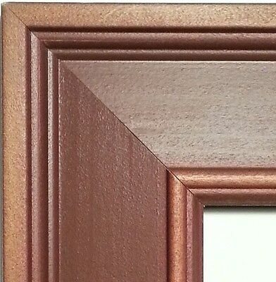 57 ft - Wide Wood Picture Frame Moulding, Weathered Barn Red & Walnut, Rustic