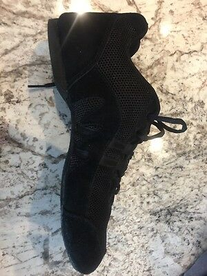 Sansha Skazz Women's Black Leather Mesh Dance Shoe 9.5-10