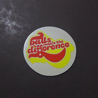 Vintage Sticker Balls Make the Difference Novelty Naughty Metallic Shiny 70s 80s